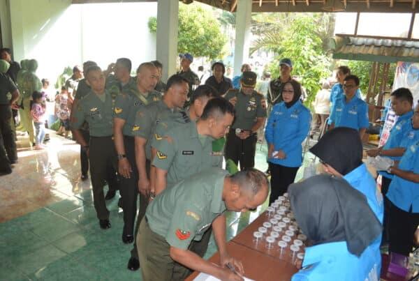BNN Kabupaten Kediri Sidak Tes Urin Anggota Kodim 0809