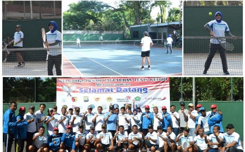 Olahraga bersama Forpimda PTK (Paguyuban Tennis Kediri)
