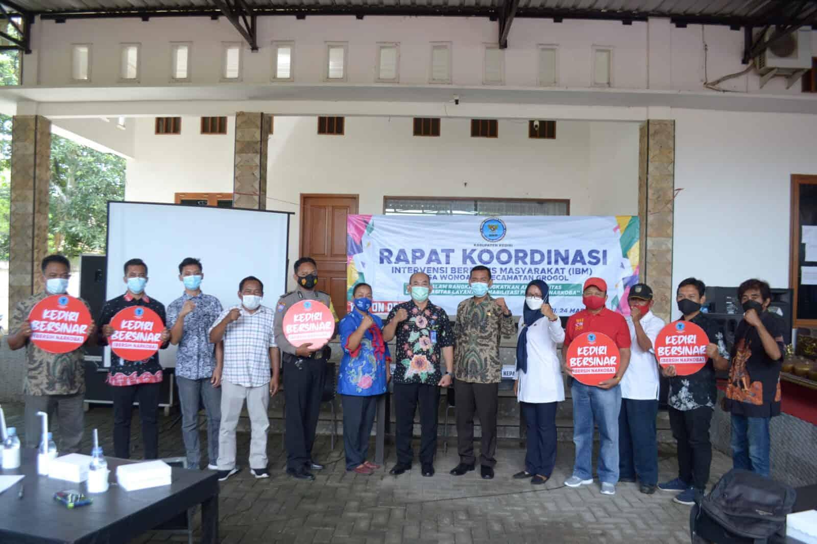 Permudah Akses Layanan Rehabilitasi di Desa, BNN Kabupaten Kediri Gelar Rakor IBM