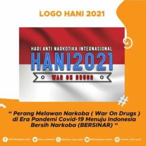 Logo dan Tema Hari Anti Narkotika Nasional (HANI) 2021